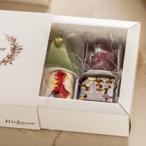 Caixa de bombons com 4 bombons sortidos