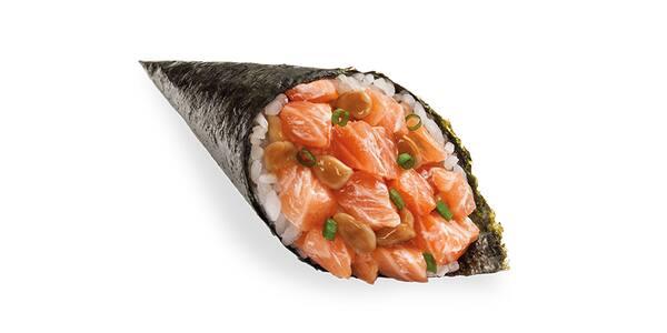 Temaki salmão com shimeji - 120g