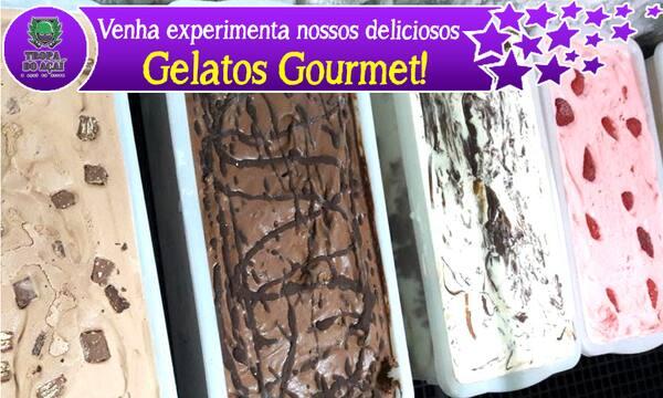 Gelato (sorvete especial) 07 bolas   + 02 coberturas+ 02 recheios -