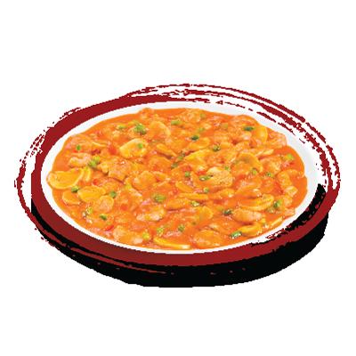 Camarão com moyashi (broto de feijão)