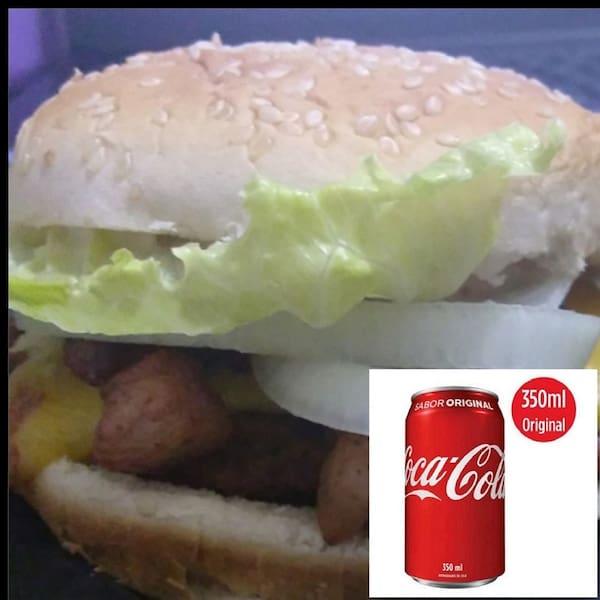 Combo X salada + Coca Cola Lata