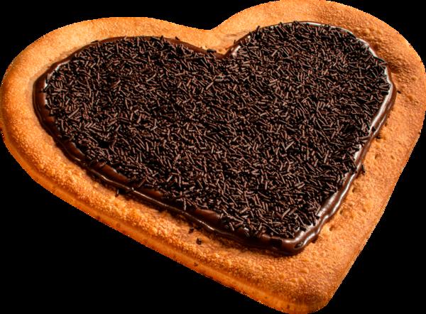 Pizza coração brigadeiro