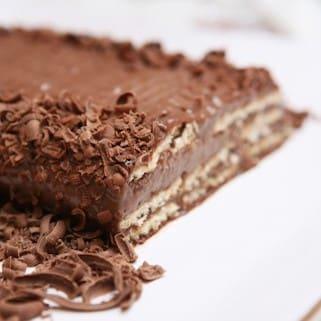 Pavê de chocolate - fatia de aprox. 100g