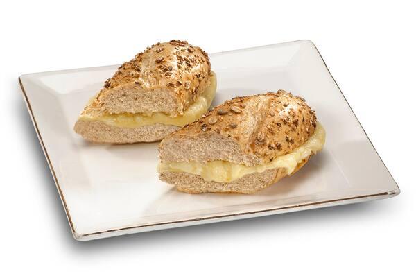 Sanduiche baguete integral mix 3 queijos