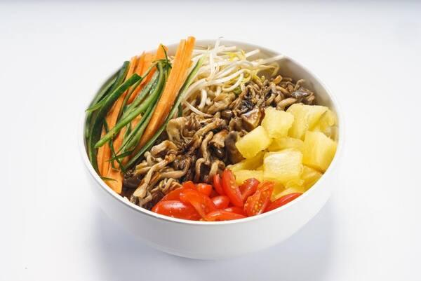 Poke shimeji (vegetariano)