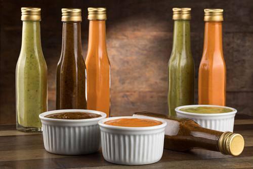 Molho picante forte feito em casa - garrafa 100ml, vegetariano