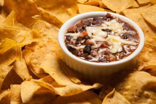Nachos com chili beans