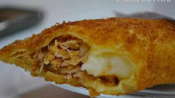 Pastel de frango e Catupiry