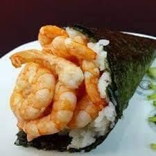 Temaki gourmet de camarão