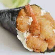 Temaki de camarão no panko com cream cheese