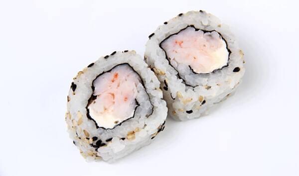 Uramaki de camarão com cream cheese 2 peças