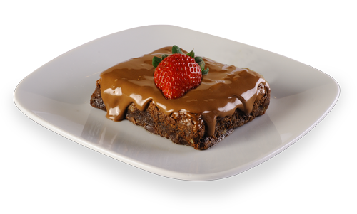 Brownie com Cobertura de Chocolate ao Leite