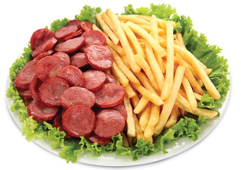 Linguiça com fritas + Guaraná natural
