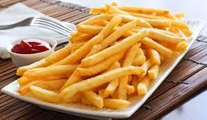 Porção de batata-frita simples