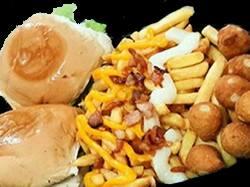 Promoção 2 (2 hamburgues+fritas+nugetts+ 2 guaranás natural.