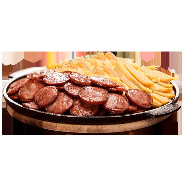 Calabresa + fritas montana