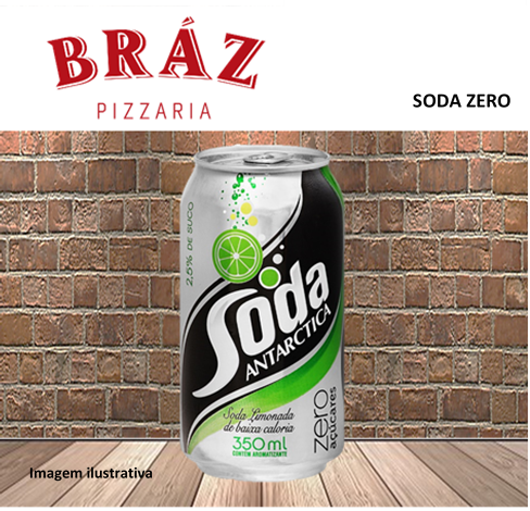 Soda zero lata