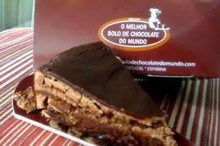 Fatia melhor bolo de chocolate do mundo