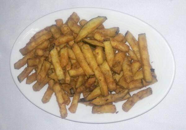 Melanzana com patate frite