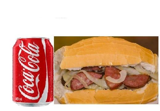 Promoção x - calábria + coca cola lata