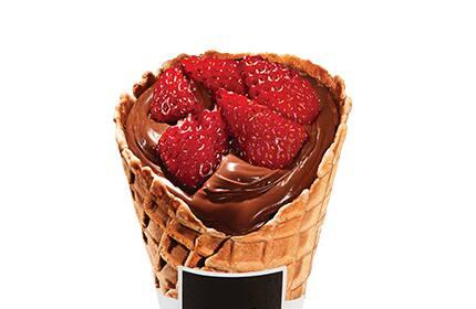 Koni de morango com Nutella (1 unidade)