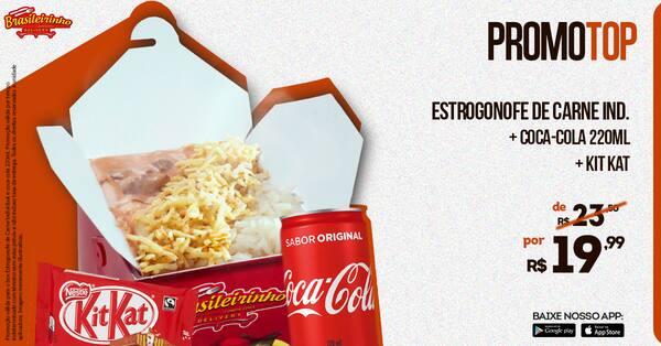 Estrogonofe de carne+coca + kitkat