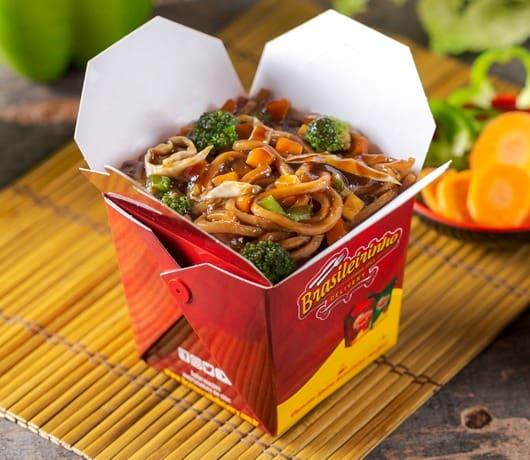 Box yakisoba vegetariano individual