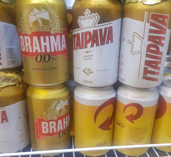 Cerveja lata  350ml Brahma ou similar