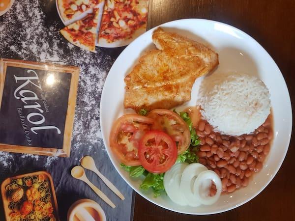 Almoço promoção ( filé de frango acompanha arroz, feijão e salada. (cópia 1)