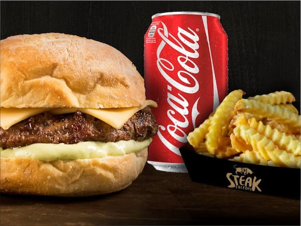 Combo cheese burger fraldinha