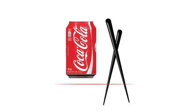 Coca-Cola lata 350 ml + canudo bio