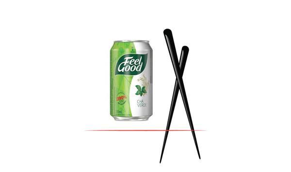 Chá verde feel good lata 330 ml + canudo bio