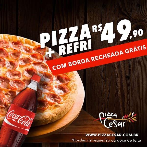 Combo família: 1 pizza grande + 1 refri de 1, 5l a sua escolha!