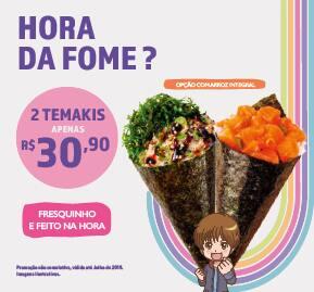 Promoção 2 temakis