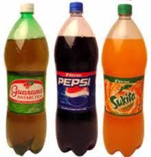 pepsi ou antarctica de 1  litro