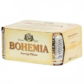 Cerveja bohemia lata 350 ml, caixa c 12 unidades