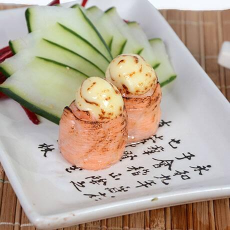 Dyo´s de salmão maçaricado - 10 unidades