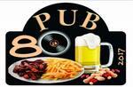 Logotipo Pub 80 Lanches e Porções