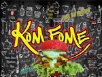 Logotipo Kom Fome Lanches Artesanais e Refeicoes