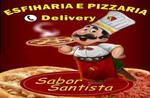 Logotipo Esfiharia e Pizzaria Sabor Santista