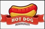 Logotipo Hot Dog Premium Quality