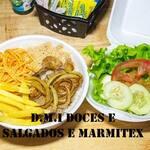Logotipo D.m.i Doces e Salgados e Marmitex