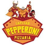 Logotipo Capitão Pepperoni Pizzaria