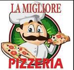 Logotipo Migliore Pizzeria Y Comida Rápida