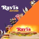 Logotipo Ravis Lanches e Sorvetes