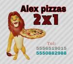 Logotipo Alex Pizzas