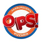 Logotipo Ops Hamburgueria e Pizzaria