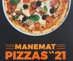 Logotipo Manemat Pizzas La 21