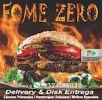 Logotipo Fome Zero Lanches e Porções