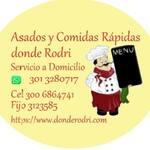 Logotipo Asados Y Comidas Rápidas Dónde Rodri